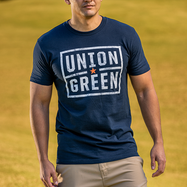 Union Green Badge T-Shirt Navy