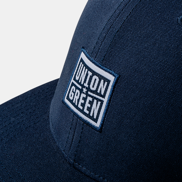 Union Green Rally Wordmark Snapback Mesh Hat