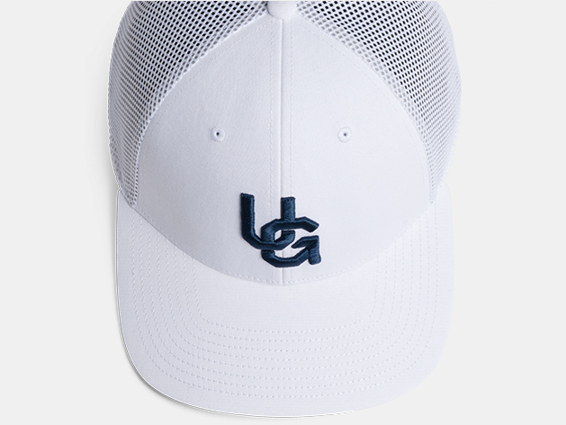 Union Green Rally Snapback Mesh Hat in White