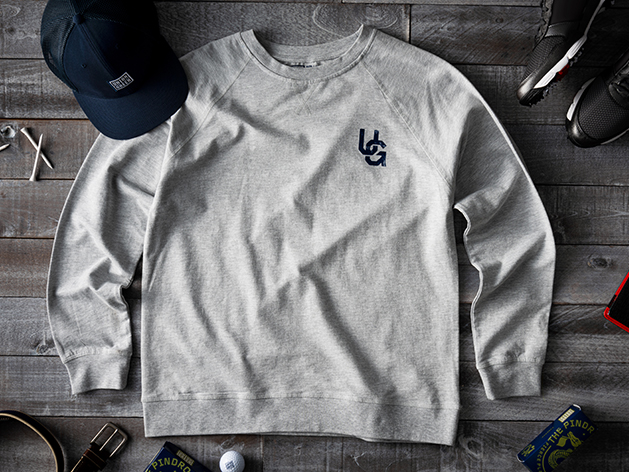 Union Green Double Hit French Terry Sweatshirt in Grey