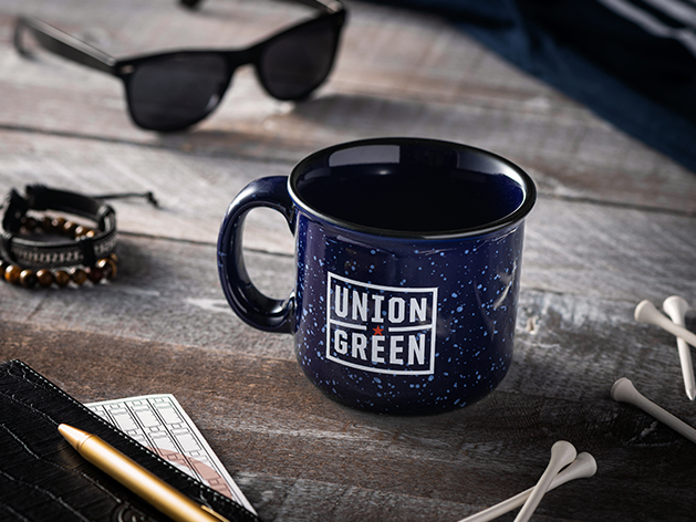 Union Green Campfire Mug in Navy