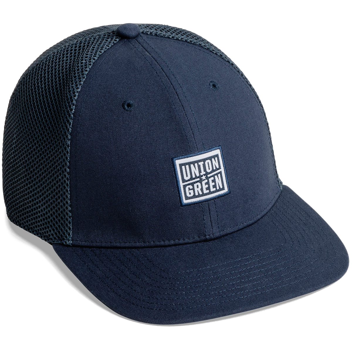 Union Green Wordmark Snapback Mesh Hat