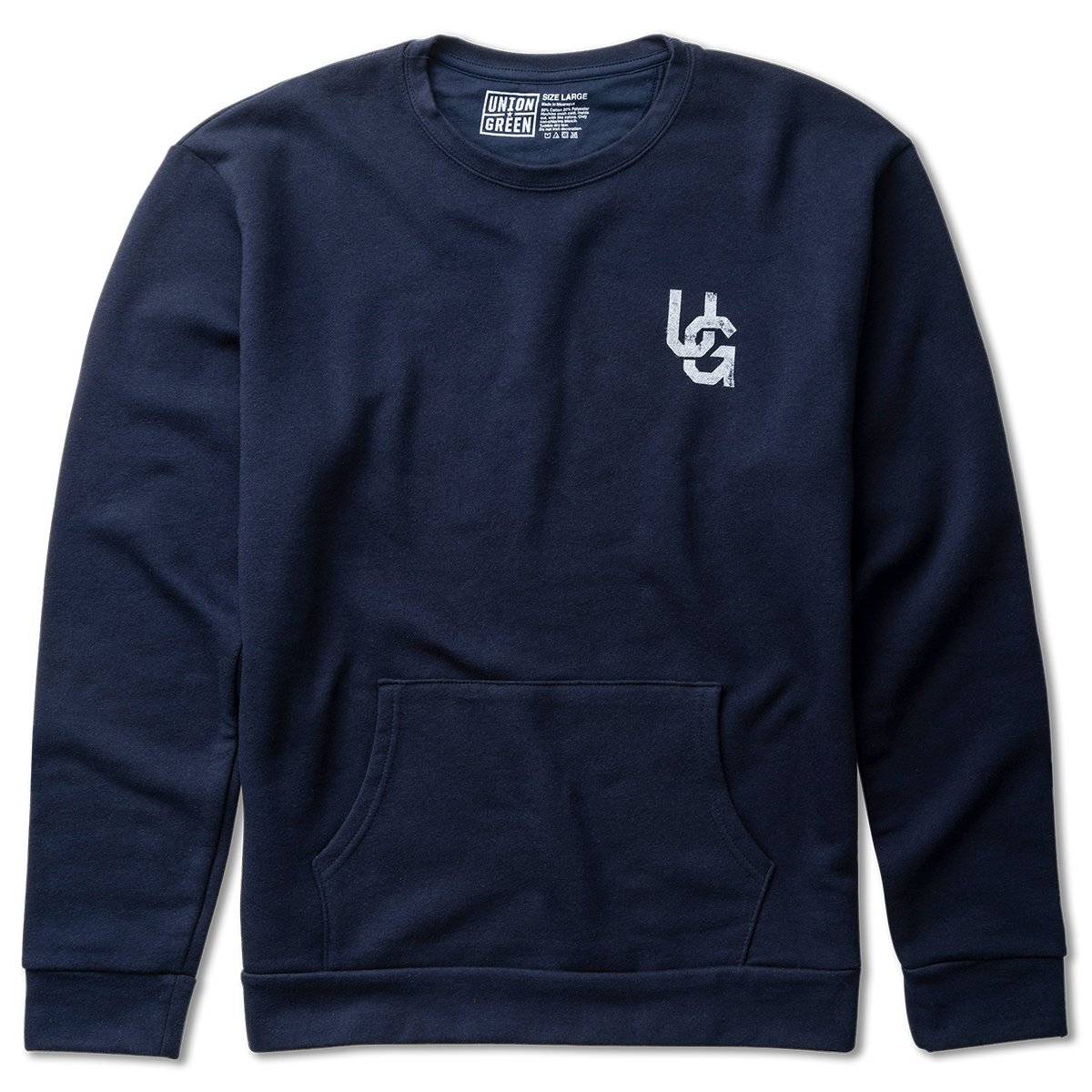 Union Green Double Hit Fleece Crewneck Sweatshirt